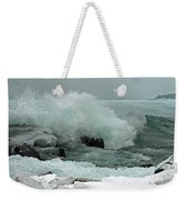 Powerful Winter Surf Weekender Tote Bag