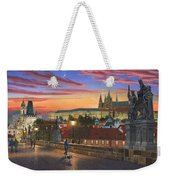 Prague At Dusk Weekender Tote Bag