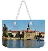 Prague East And Charles Bridge Weekender Tote Bag