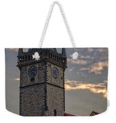 Prague Old Town Hall Weekender Tote Bag