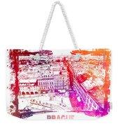 Prague Skyline Panorame Weekender Tote Bag