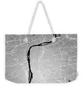 Prague Street Map - Prague Czech Republic Road Map Art On Colore Weekender Tote Bag