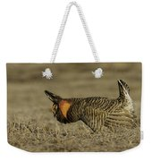 Prairie Chicken-9 Weekender Tote Bag by Thomas Young