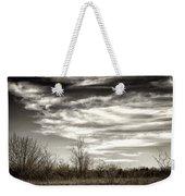 Prairie Winter Sky Weekender Tote Bag