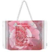 Prayer Of St. Francis And Pink Rose 2 Weekender Tote Bag