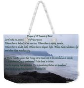 Prayer Of St Francis Of Assisi Weekender Tote Bag by Sharon Elliott