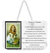 Prayer To St. Dymphna Weekender Tote Bag