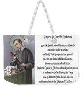 Prayer To St. Gerard For Motherhood Weekender Tote Bag