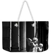 Praying Angle - Sucre Cemetery In Black And White Weekender Tote Bag