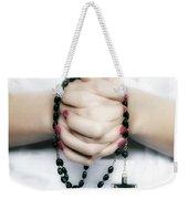 Praying Hands Weekender Tote Bag by Joana Kruse