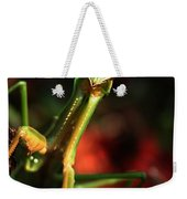 Praying Mantis Portrait Weekender Tote Bag