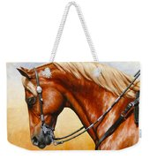 Precision - Horse Painting Weekender Tote Bag by Crista Forest