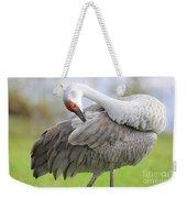 Preener Sandhill Crane Weekender Tote Bag