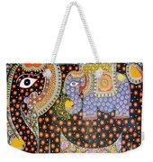 Pregnant Elephant Weekender Tote Bag