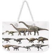 Prehistoric Era Dinosaurs Of Niger Weekender Tote Bag by Nobumichi Tamura