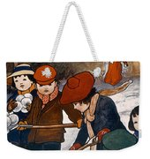 Preparing For The Snowball Fight Weekender Tote Bag