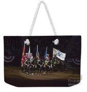Presenting The Colors On Horseback Weekender Tote Bag