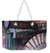 Preservation Hall Sign Weekender Tote Bag