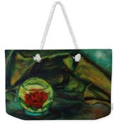 Preserved Rose . . Draped Canvas Weekender Tote Bag