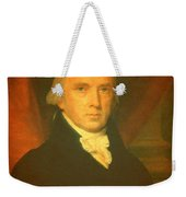 President James Madison Portrait And Signature Weekender Tote Bag by Design Turnpike