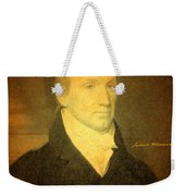 President James Monroe Portrait And Signature Weekender Tote Bag by Design Turnpike