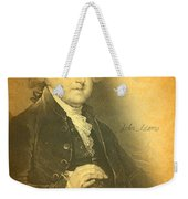 President John Adams Portrait And Signature Weekender Tote Bag by Design Turnpike