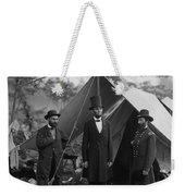 President Lincoln At Antietam Weekender Tote Bag