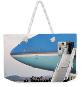 President Obama, Osan Air Base, Korea Weekender Tote Bag