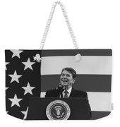President Reagan American Flag  Weekender Tote Bag