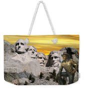 President Reagan At Mount Rushmore Weekender Tote Bag