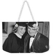 President Truman And Daughter Weekender Tote Bag