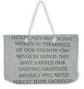 President Truman's Dedication To World War Two Vets Weekender Tote Bag