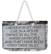 Presidential Message Weekender Tote Bag