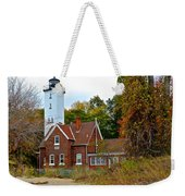 Presque Isle Lighthouse Weekender Tote Bag by Frozen in Time Fine Art Photography