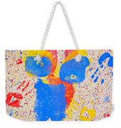 Pressed Paint Weekender Tote Bag