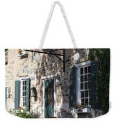 Pretty Brick Building And Flower Boxes Weekender Tote Bag
