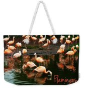 Pretty Flamingos Weekender Tote Bag