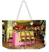 Pretty In Pink Bar Stools And Slots Reserved For Spring Break High Rollers   Weekender Tote Bag
