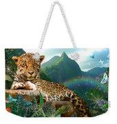 Pretty Jaguar Weekender Tote Bag by Alixandra Mullins