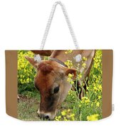 Pretty Jersey Cow Square Weekender Tote Bag