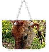 Pretty Jersey Cow - Vertical Weekender Tote Bag
