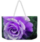 Pretty Lilac Rose Weekender Tote Bag