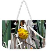 Pretty Little Yellow Warbler Weekender Tote Bag