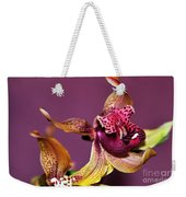Pretty Orchid On Pink Weekender Tote Bag