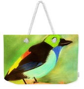 Pretty Paradise Tanager Weekender Tote Bag