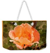 Pretty Peachy Rose Abstract Flower Weekender Tote Bag