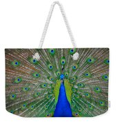 Pretty Peacock Weekender Tote Bag