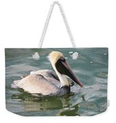 Pretty Pelican In Pond Weekender Tote Bag