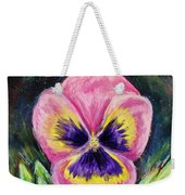 Pretty Pink Pansy Person Weekender Tote Bag