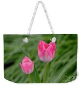 Pretty Pink Tulips Weekender Tote Bag
